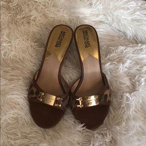 Michael Kors size 7 slip on heels